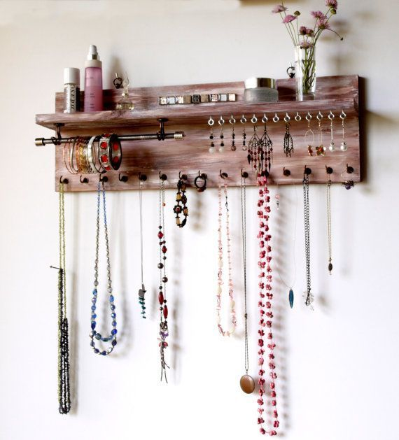 50+ DIY Schmuck Display Crafts – DIY Schmuck Idee –  50 + DIY Schmuck Display Ha…
