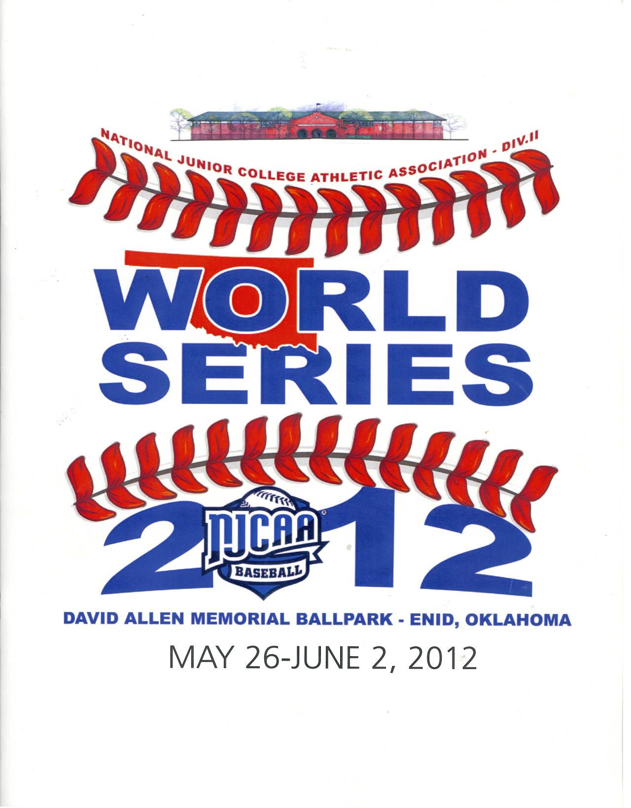 2012 Njcaa Division Ii World Series Program World Series