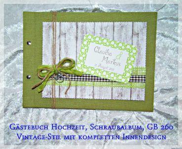 Creativds Gastebuch Hochzeit Vintage Designalbum Gruntone Gb 260