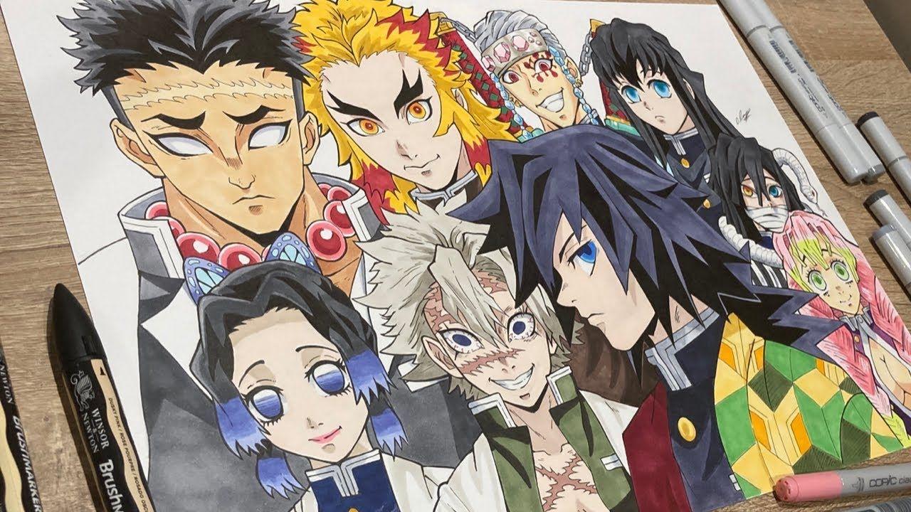 Save follow shinobu kocho live wallpaper demon slayer kimetsu no yaiba video hd anime wallpapers cool anime. How to draw 9 HASHIRA - PILLARS from DEMON SLAYER (Kimetsu ...