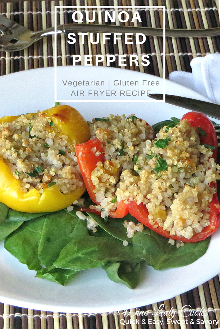 Air Fryer Quinoa Stuffed Peppers