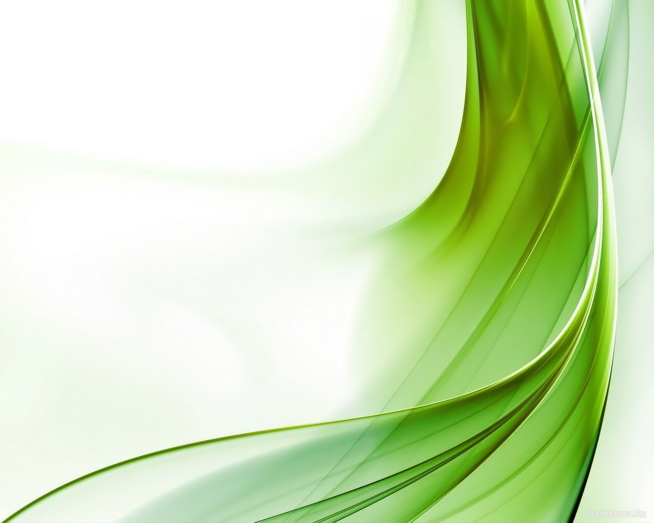 green wave abstract backgrounds for powerpoint templates