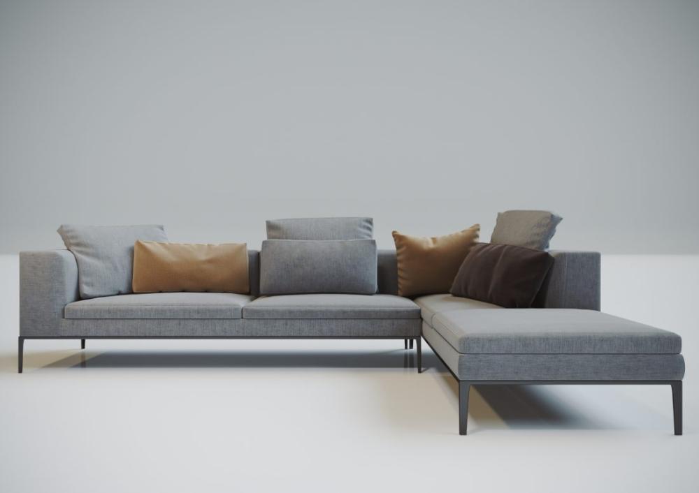 3d Model Sofa 166 Free Download By Salih Gocmen In 2020 Sofa Sectional Couch Sofa Set