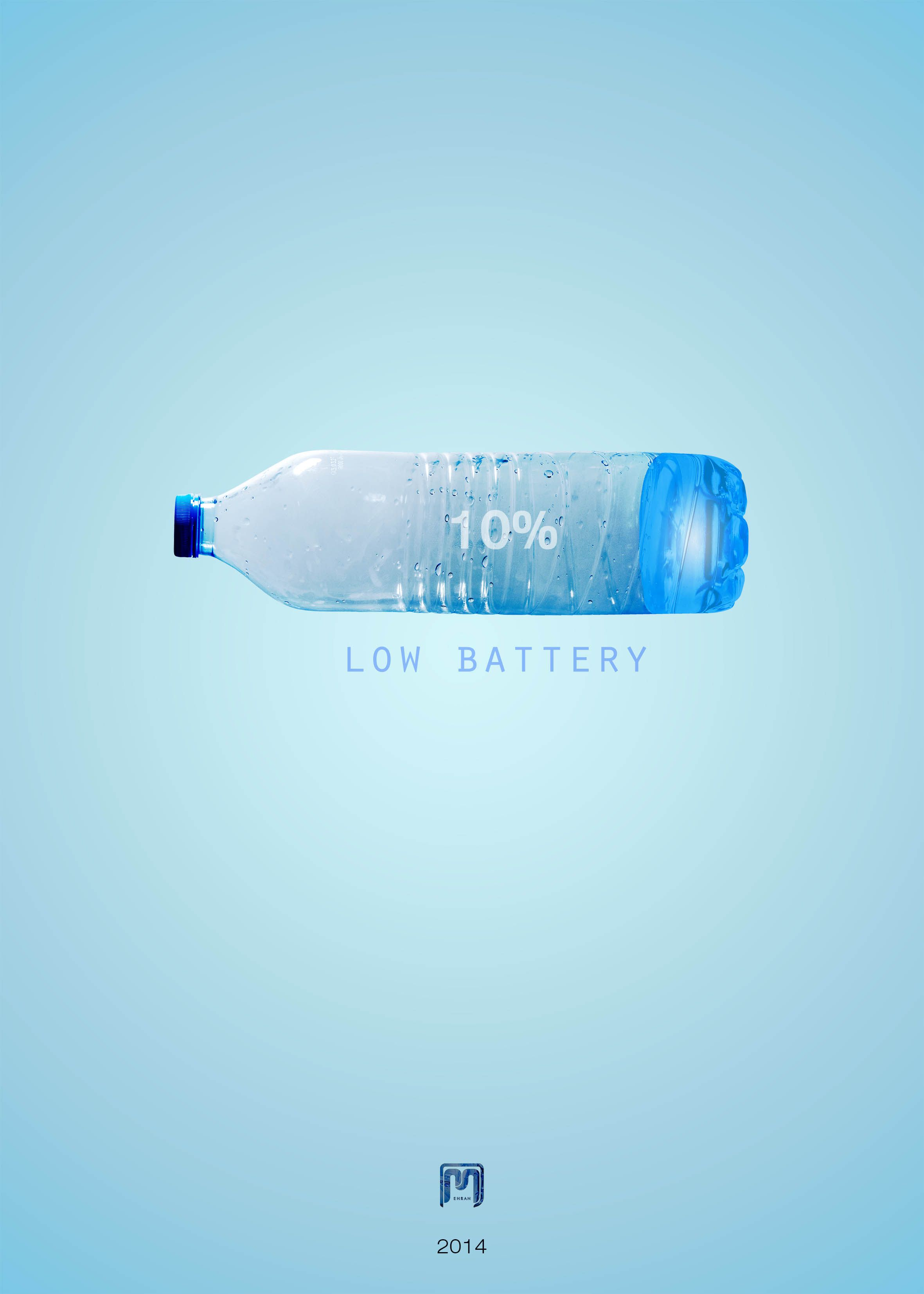 the poster with topic : Water Shortage   Designer : Mehran Mavadat nejad