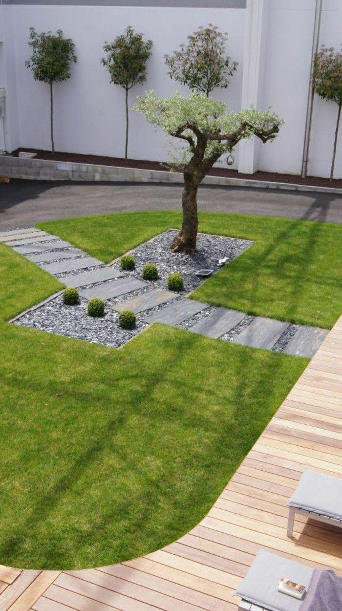 Moderne Gartengestaltung Gartenkunst Rasenkunst Und Baum