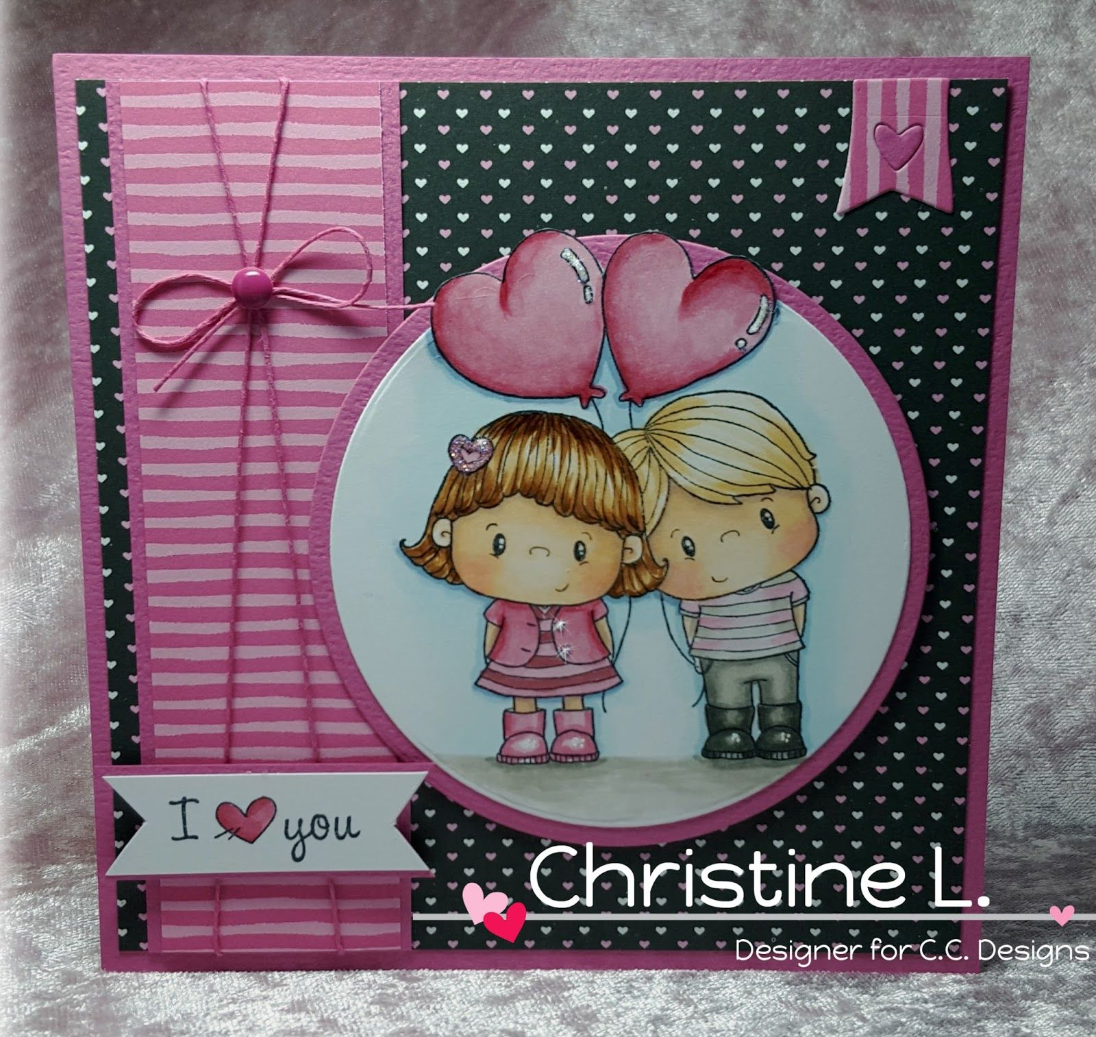 Handmade by ChristineI LOVE YOU....Materials Used Image