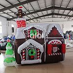 9ft-Inflatable-Santa-N-Gingerbread-House-Yard-Decor-01 by QiQi Toys