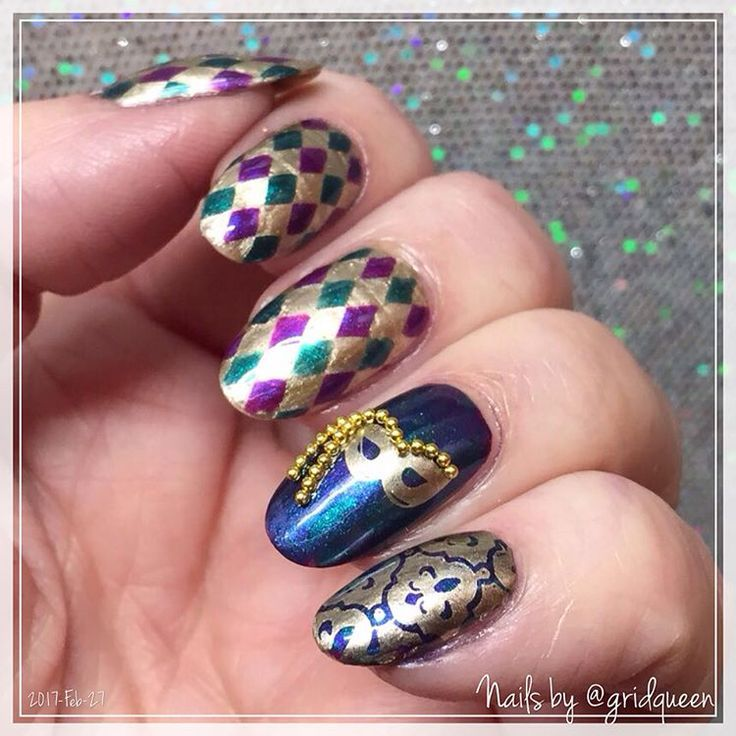 Celebrate Fat Tuesday in Style With Mardis Gras Nail Art - - NAILS ...