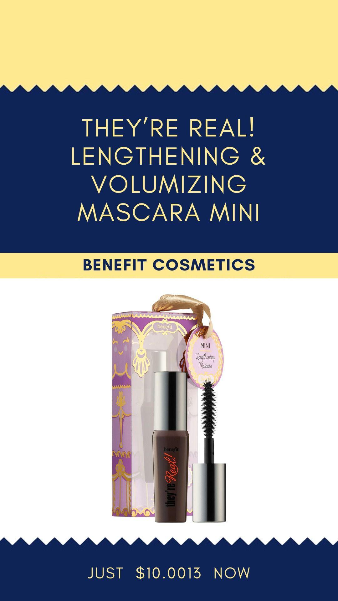 Mini theyre real lengthening mascara benefit cosmetics