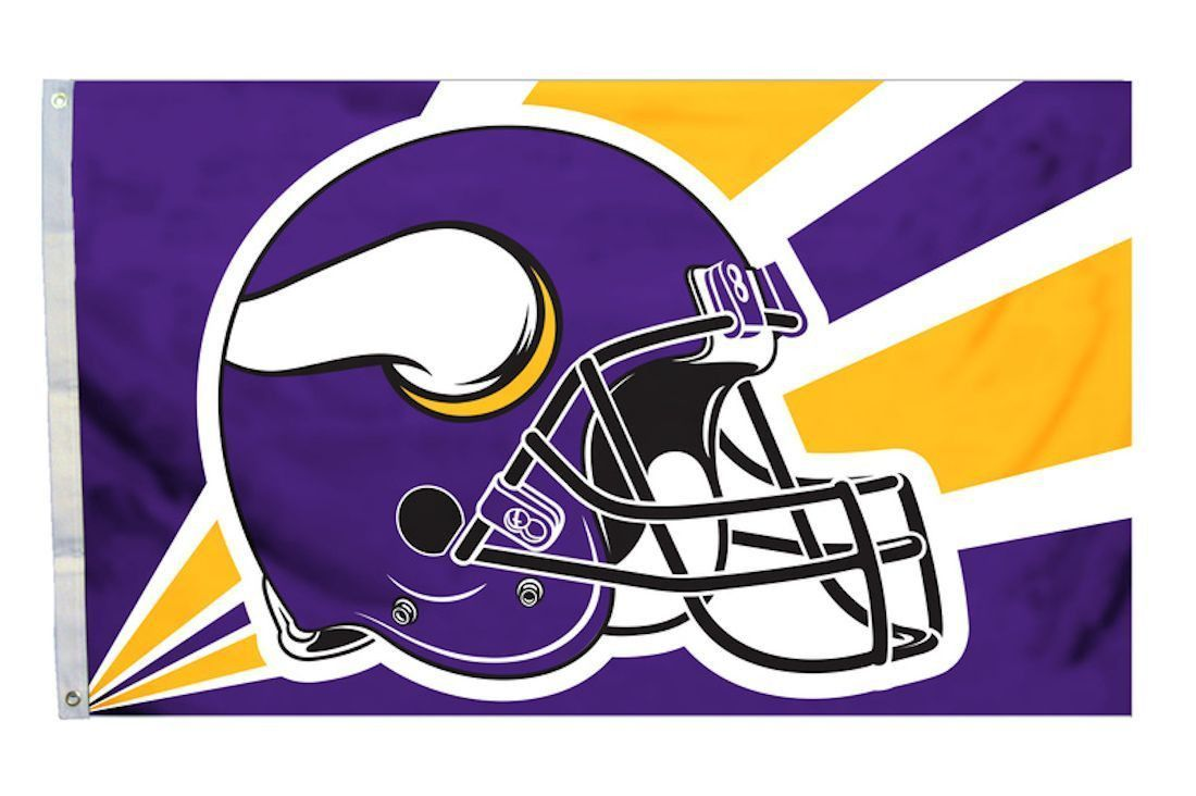 Minnesota Vikings 3\'x5\' Helmet Design Flag | Products | Pinterest