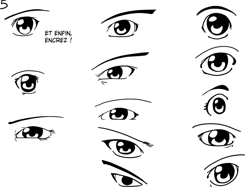Dessiner les yeux yeux pinterest face drawings - Dessiner un manga fille ...