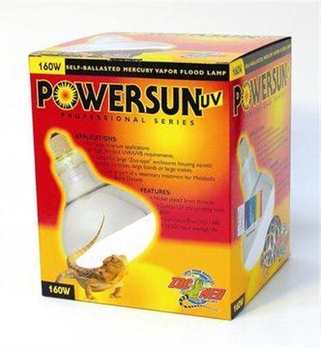Zoo Med Powersun Uv Mercury Vapor Lamp 160 Watts Read More At
