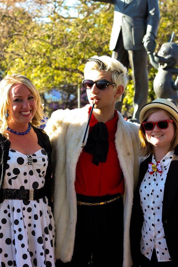 Cruella, Perdita and Pongo, 101 Dalamations   39 Stylish People Who Are Secretly Disney Characters