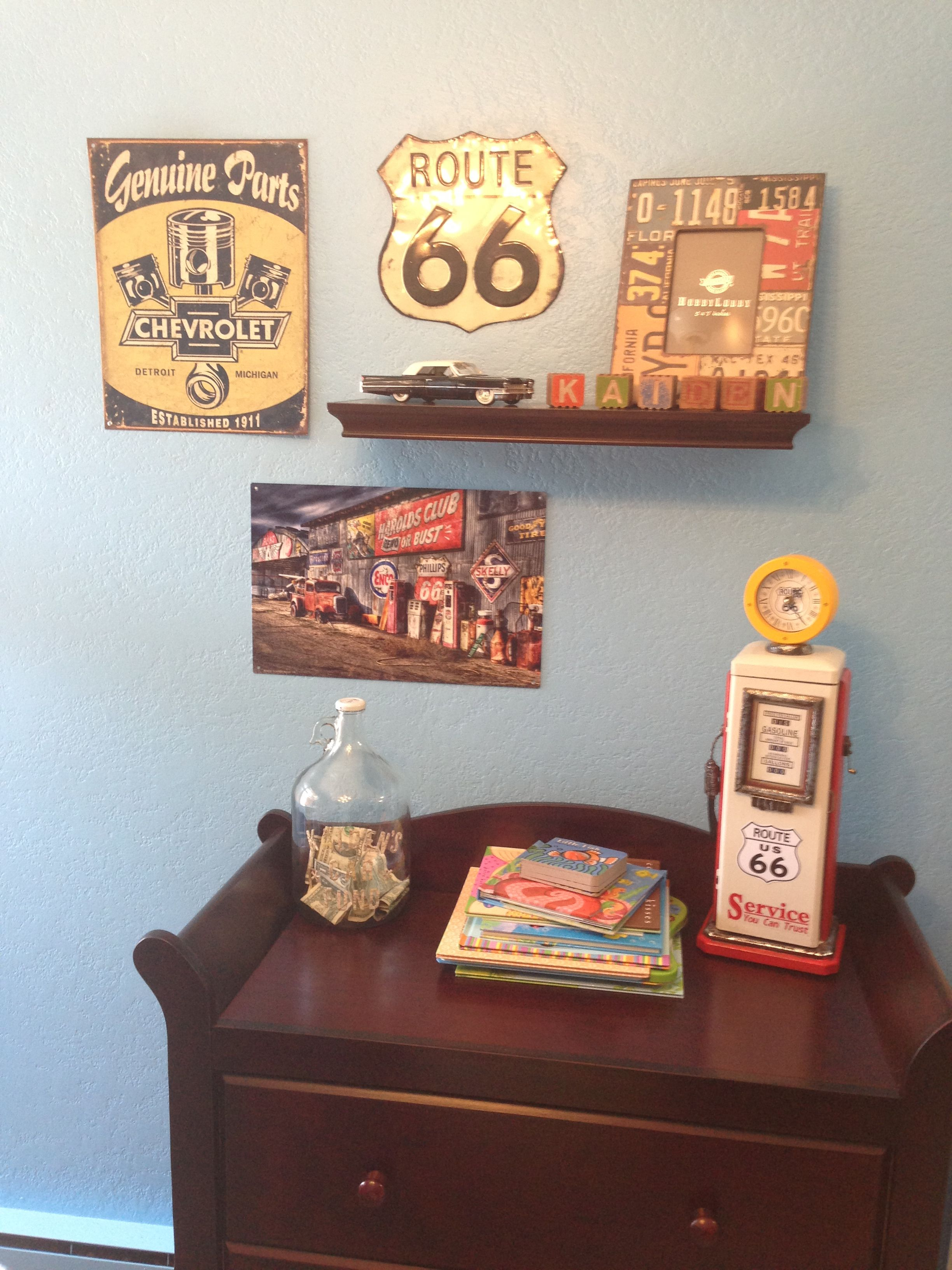 Vintage Car Baby Nursery I Want The Cheverolet Sign