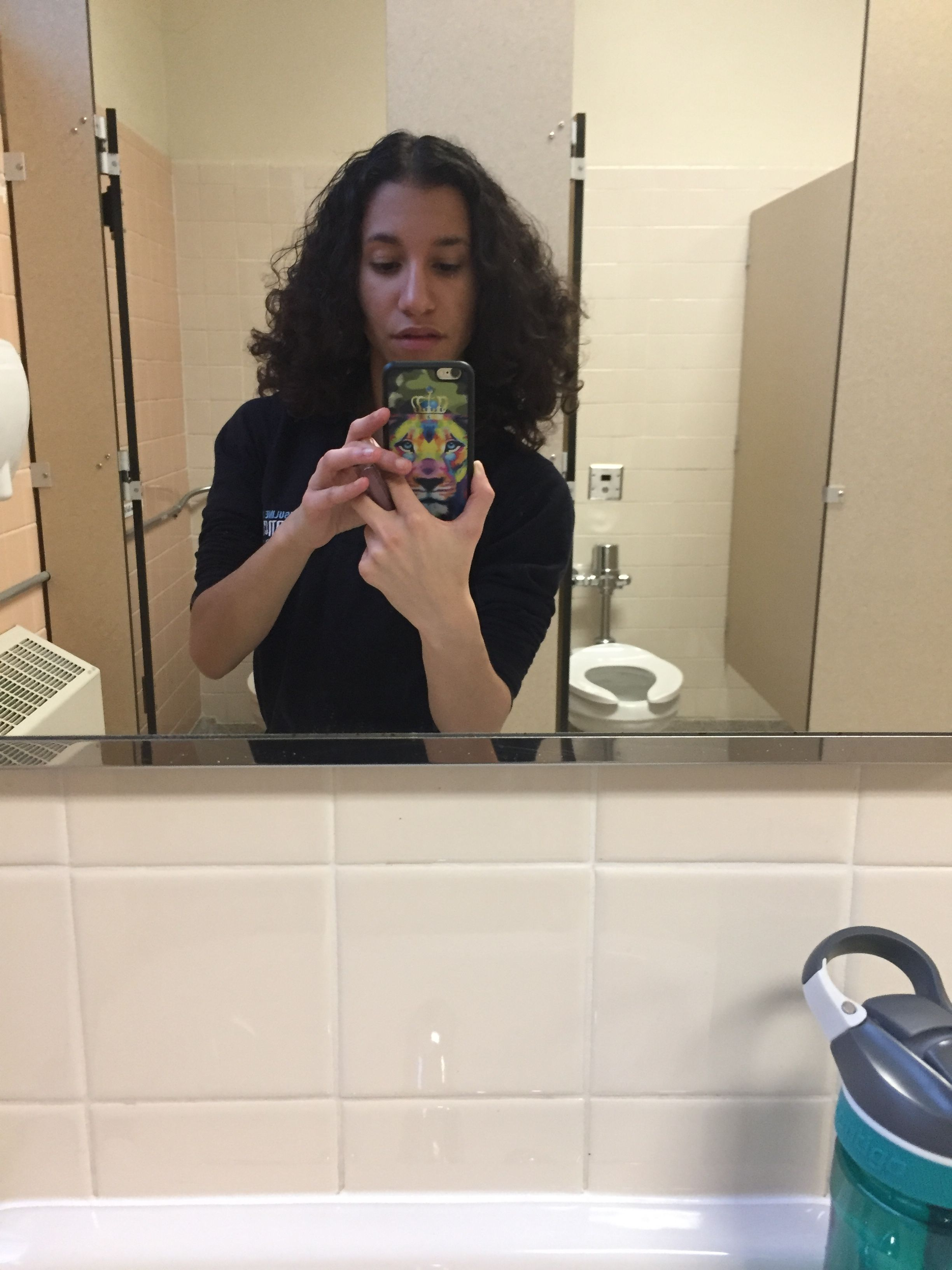 School Bathroom Selfies natural morning in the school bathroom. taking selfies cause i