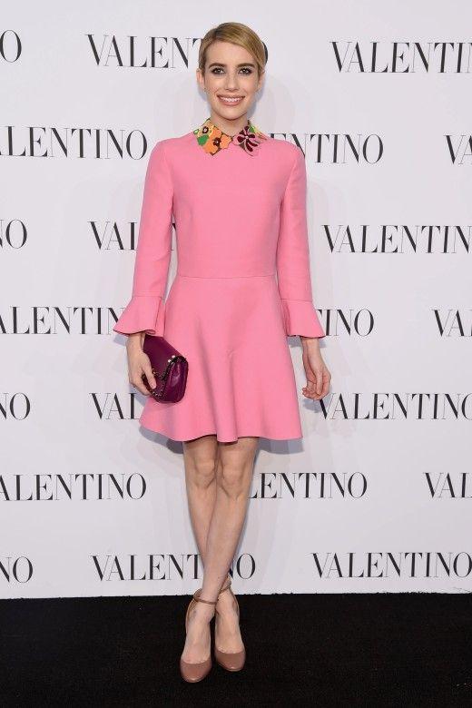 An der New Yorker 5th Avenue eröffnete jetzt der größte Valentino-Flagshipstore. Zu diesem Anlass wurde eine komplett in Weiß gehaltene Haute-Couture-Kollektion präsentiert. Emma Roberts kam als pinker Farbtupfer - natürlich von Valentino.