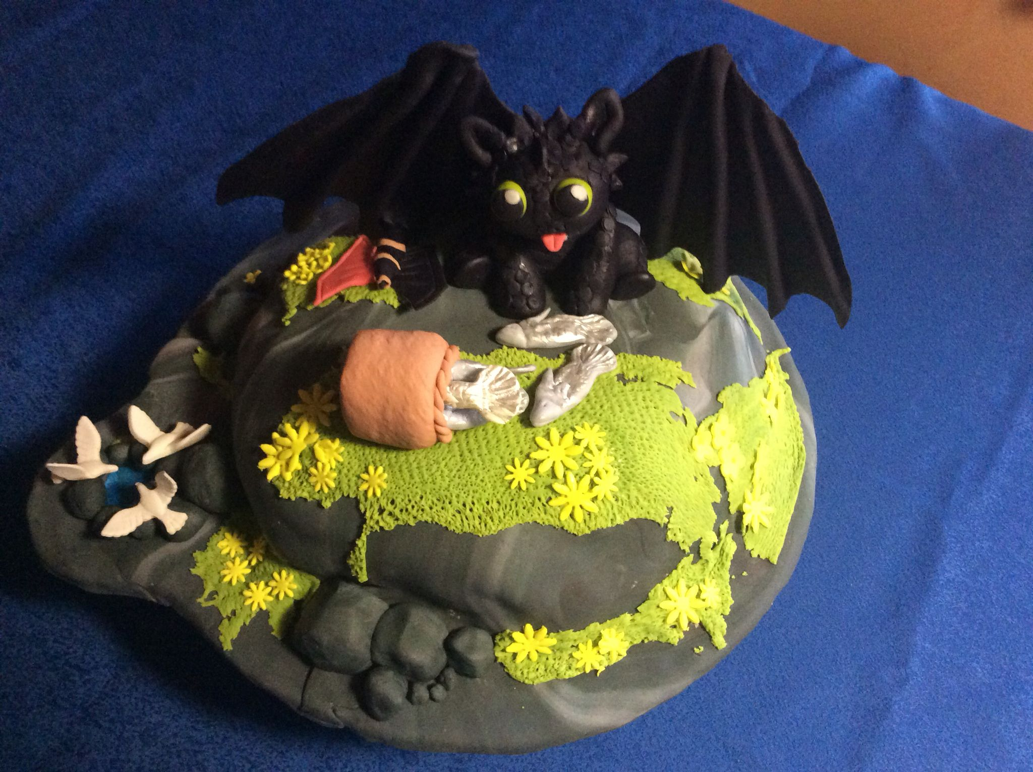 Baby Ohnezahn Kuchen Baby Toothless Cake Drachen Zahmen Leicht