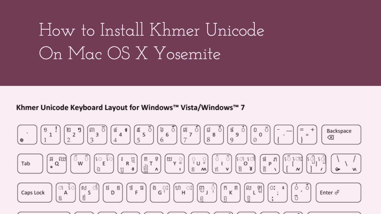 Khmer unicode font for mac os x