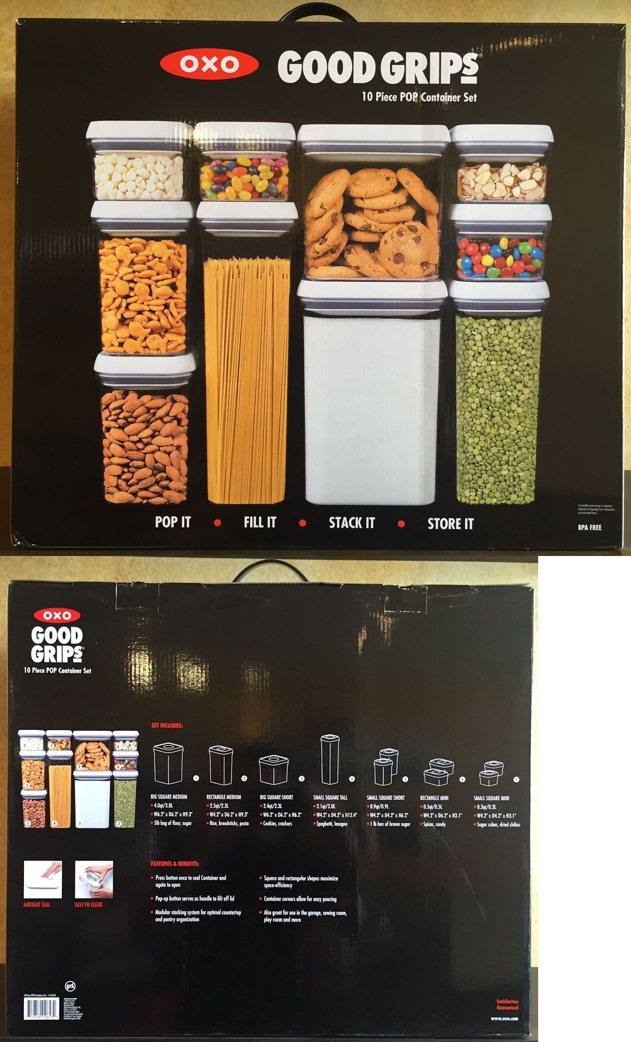 Food Storage Containers 20655: Oxo Good Grips 10 Piece Food Storage Pop  Container Set Bpa
