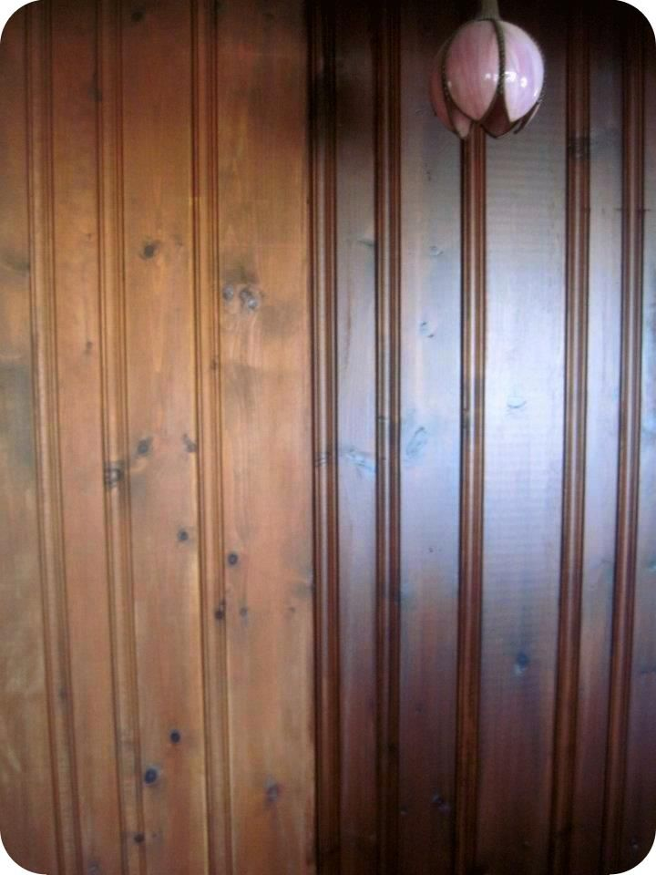 Diy How To Transform A Paneled Wall With One Product If You Re Looking Update Dull Wood Paneling Furniture Etc This Post Is For