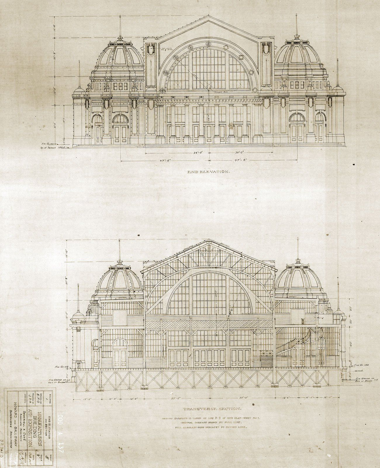 architectural drawings of buildings. Simple Buildings Manufactures Building End Elevation And Transverse Section  Architecture  Of The Pacific Northwest Collection For Architectural Drawings Of Buildings U
