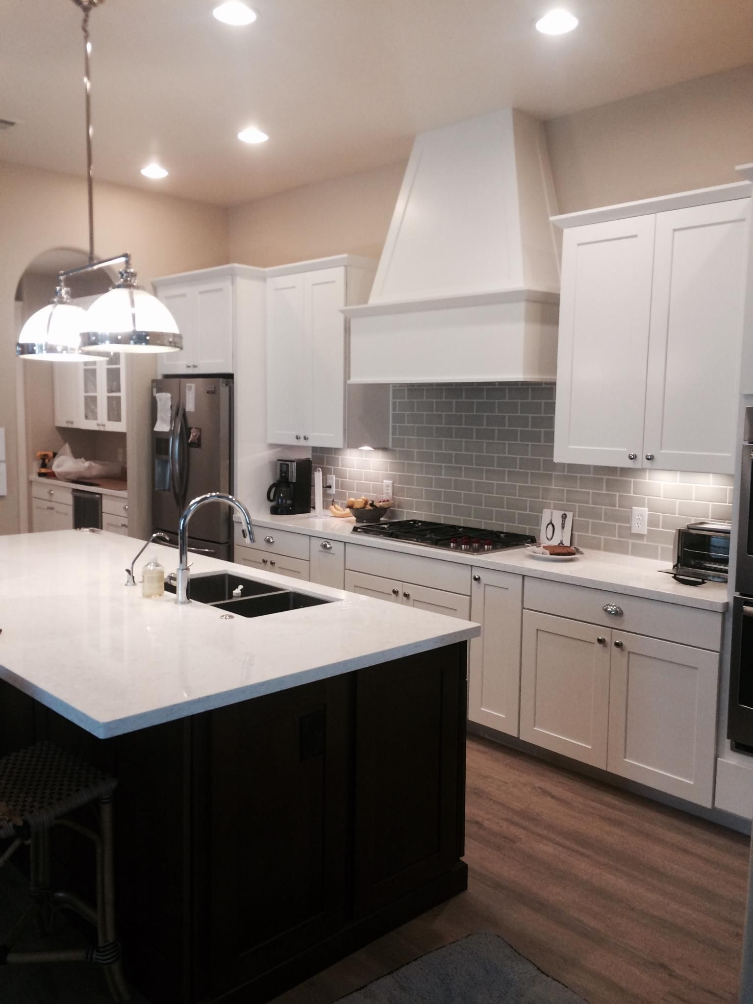 Waypoint Living Spaces Cabinets The Perimeter Is The 650s Door In Painted Linen Kitchen Cabinet Door Styles Kitchen Cabinet Styles Kitchen Remodel