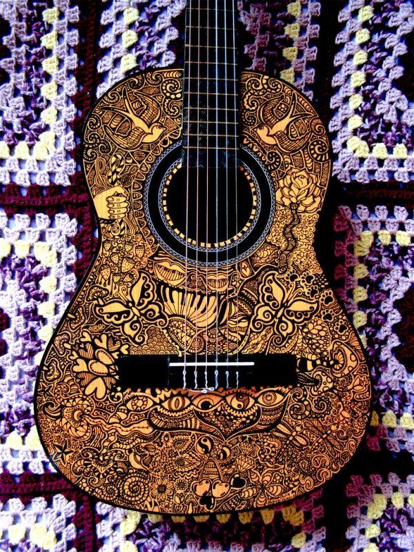 The Beatles Guitar Julia Ockert Portfolio The Loop Guitar Art Guitar Painting Instruments Art