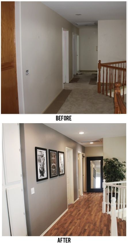 Before Amp After Hallway For The Home Renovation