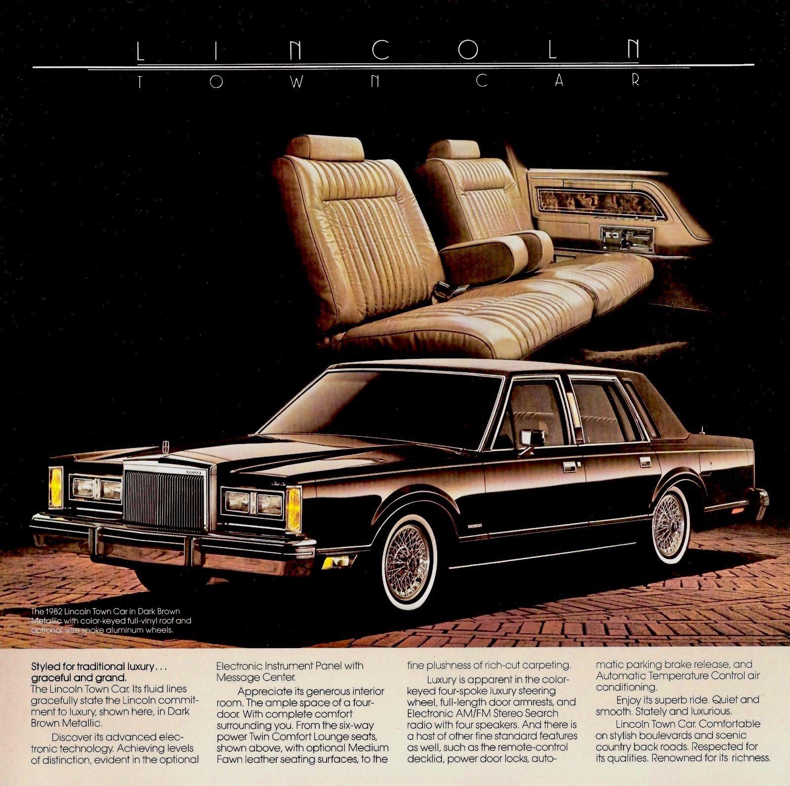 1982 Lincoln Town Car Lincoln Town Car Lincoln Motor Company Lincoln Cars