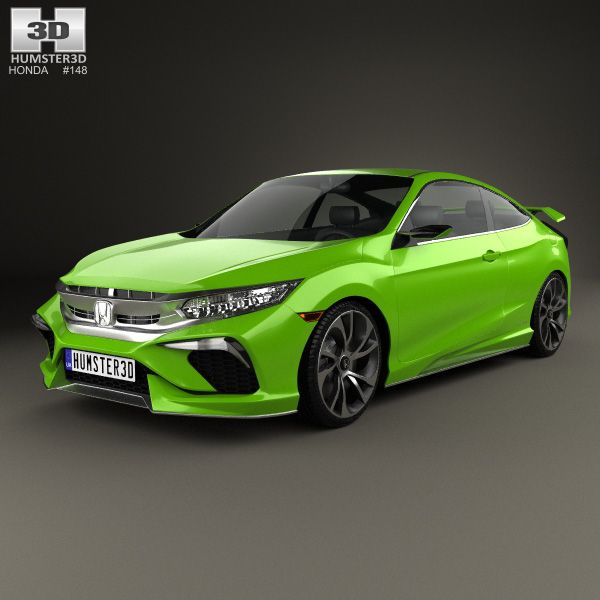 Honda Civic Coupe 2015 3d Model From Humster3D.com