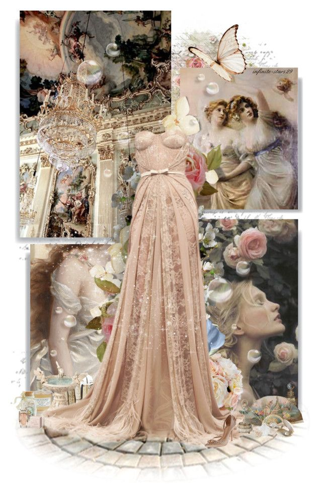 """""""Rococo"""" by infinite-stars29 ❤ liked on Polyvore featuring Finders Keepers, Library of Flowers, Diane James, Zuhair Murad, Vionnet, Mother, L'Occitane, Shabby Chic, Cartier and women's clothing"""