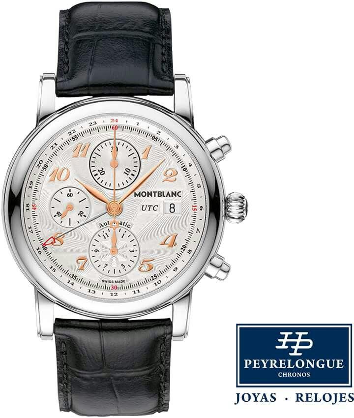 #TiempoPeyrelongue Star Chronograph UTC Automatic es el reloj elegante y funcional para el aficionado Montblanc.