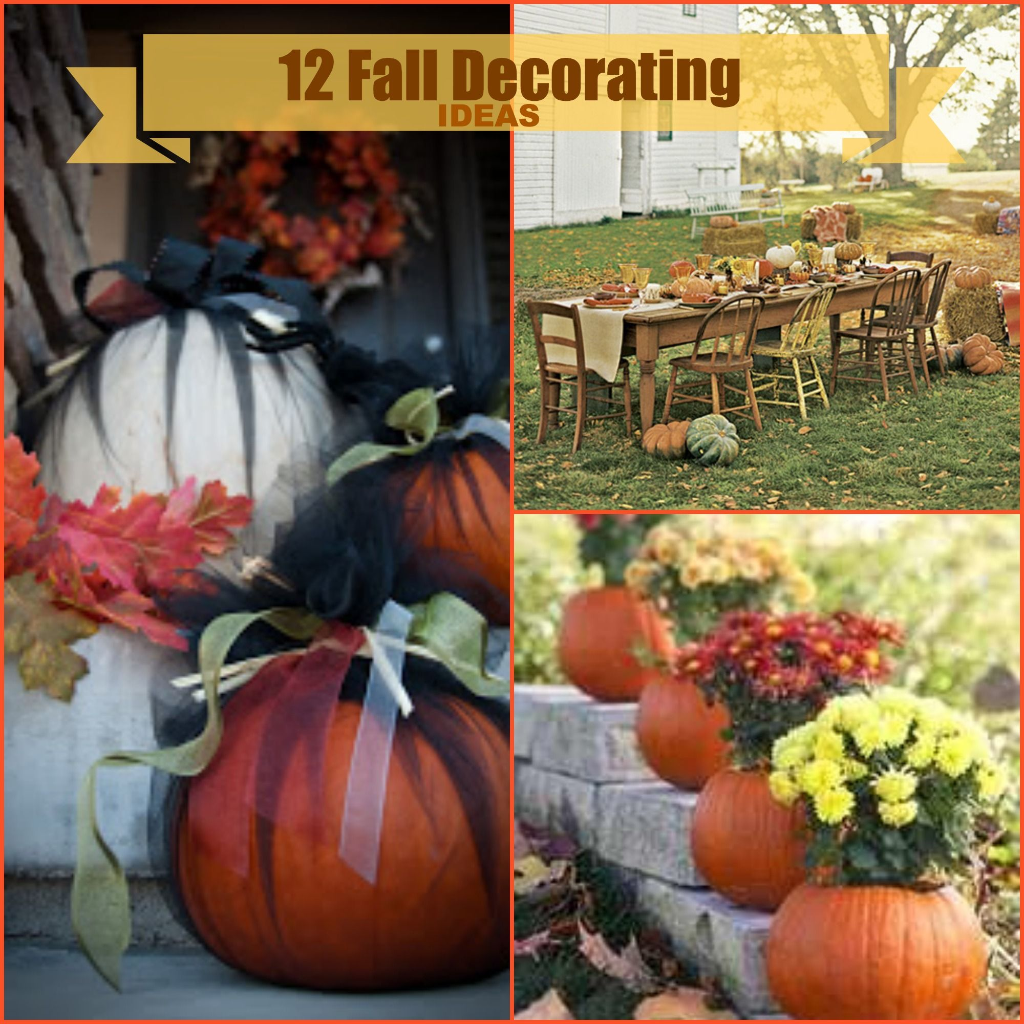 Fall decorating ideas on pinterest - Decorating For The Fall Season