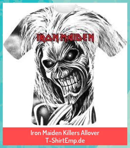 Iron Maiden Killers Allover T Shirtemp De Allover Iron Killers Maiden Tatuajes Minimalistas Tshirte Iron Maiden Daughters Name Tattoo Iron Maiden T Shirt