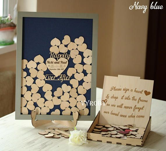 Wedding Guest Book Rustic Alternative Guest Book Sign Happily Ever