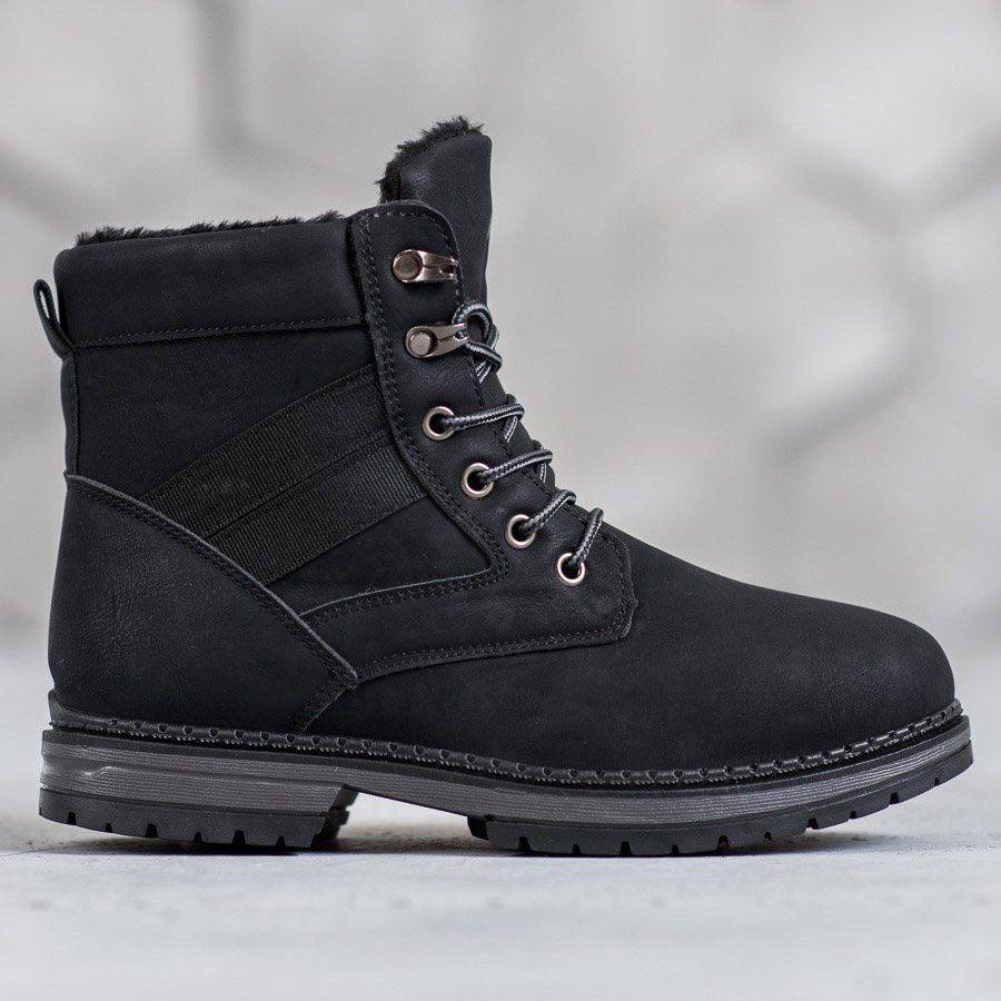 Shelovet Czarne Buty Zimowe Winter Shoes For Women Boots Black Winter Boots