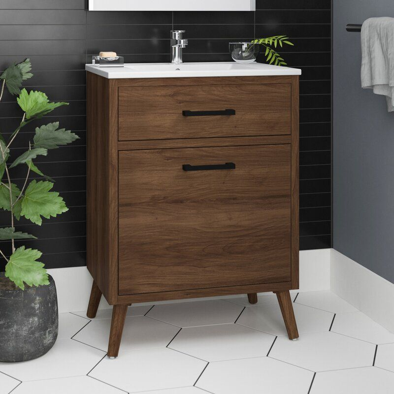 Joel 24 Single Bathroom Vanity Reviews Allmodern Wooden Bathroom Vanity Single Bathroom Vanity Bathroom Vanity