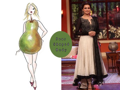 Most of the Indian women are pear shaped, they have narrow shoulders