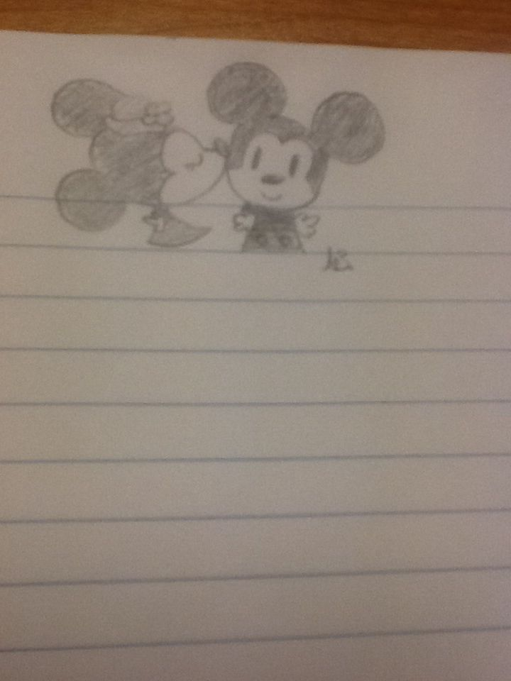 My attempt at Mickey and Minnie cuteness