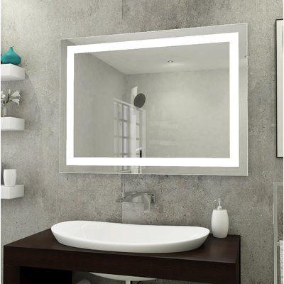 Orren Ellis Boney Front Lit Lighted Bathroom Vanity Mirror
