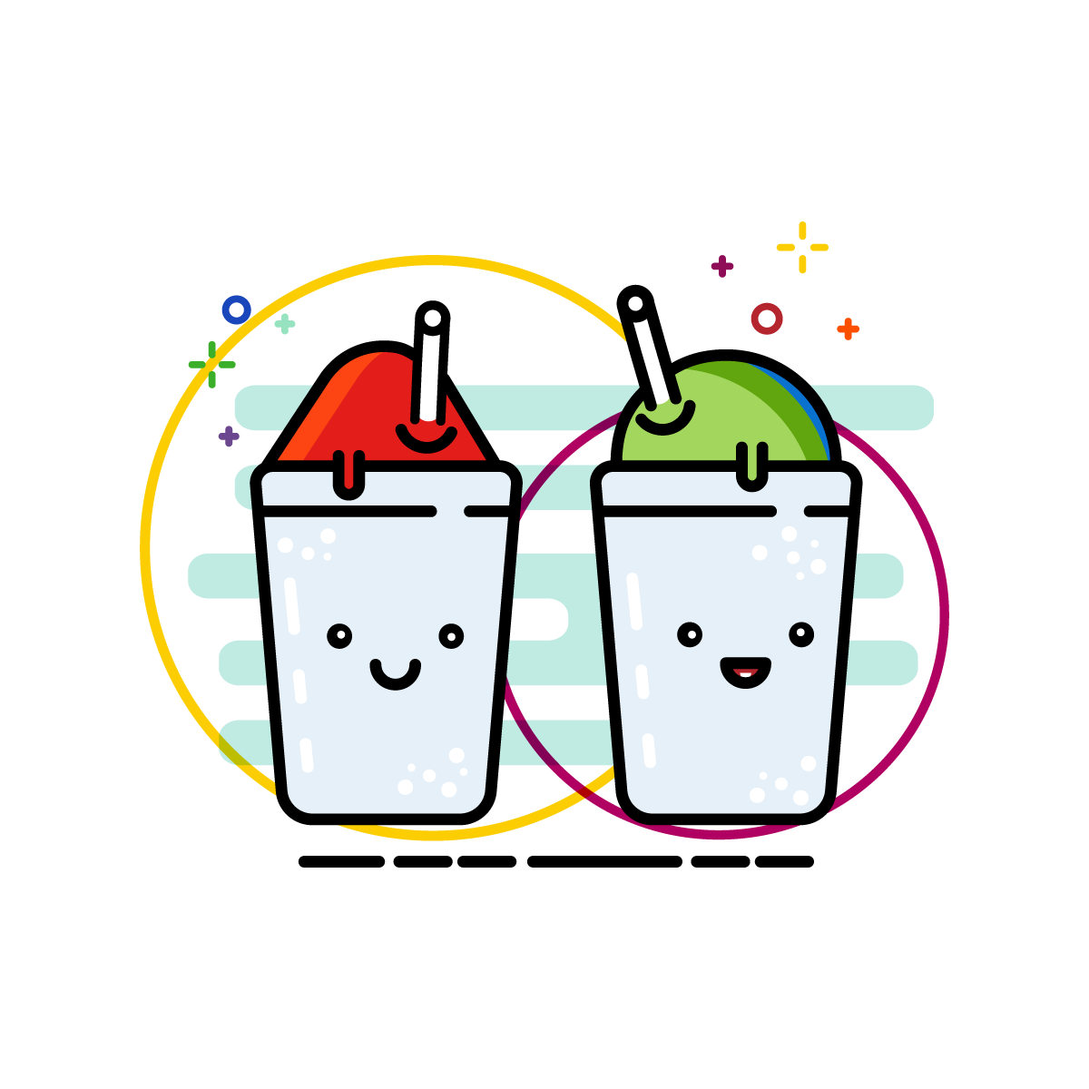 Snowball Shaved Ice Snow Cone Illustration Icons Kawaii Louisiana Graphic Design Designer Illustrato Snow Cones Painted Rocks Photo And Video