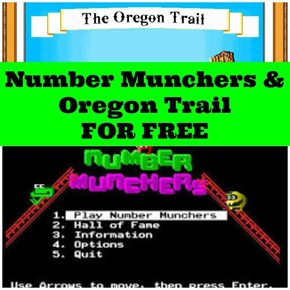 Number Munchers & Oregon Trail | Kid-Friendly | Pinterest