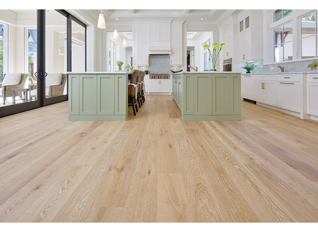 Character Grade French White Oak Light Smoked Brushed Limed