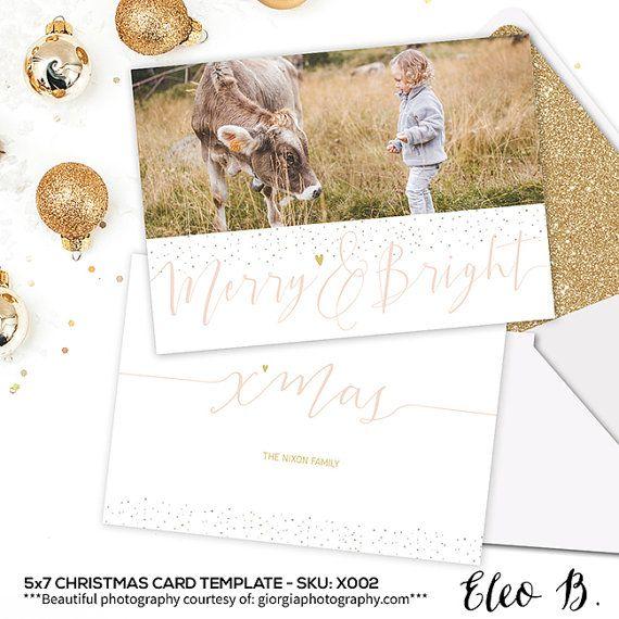 5x7 Christmas Card Templates For Photographers