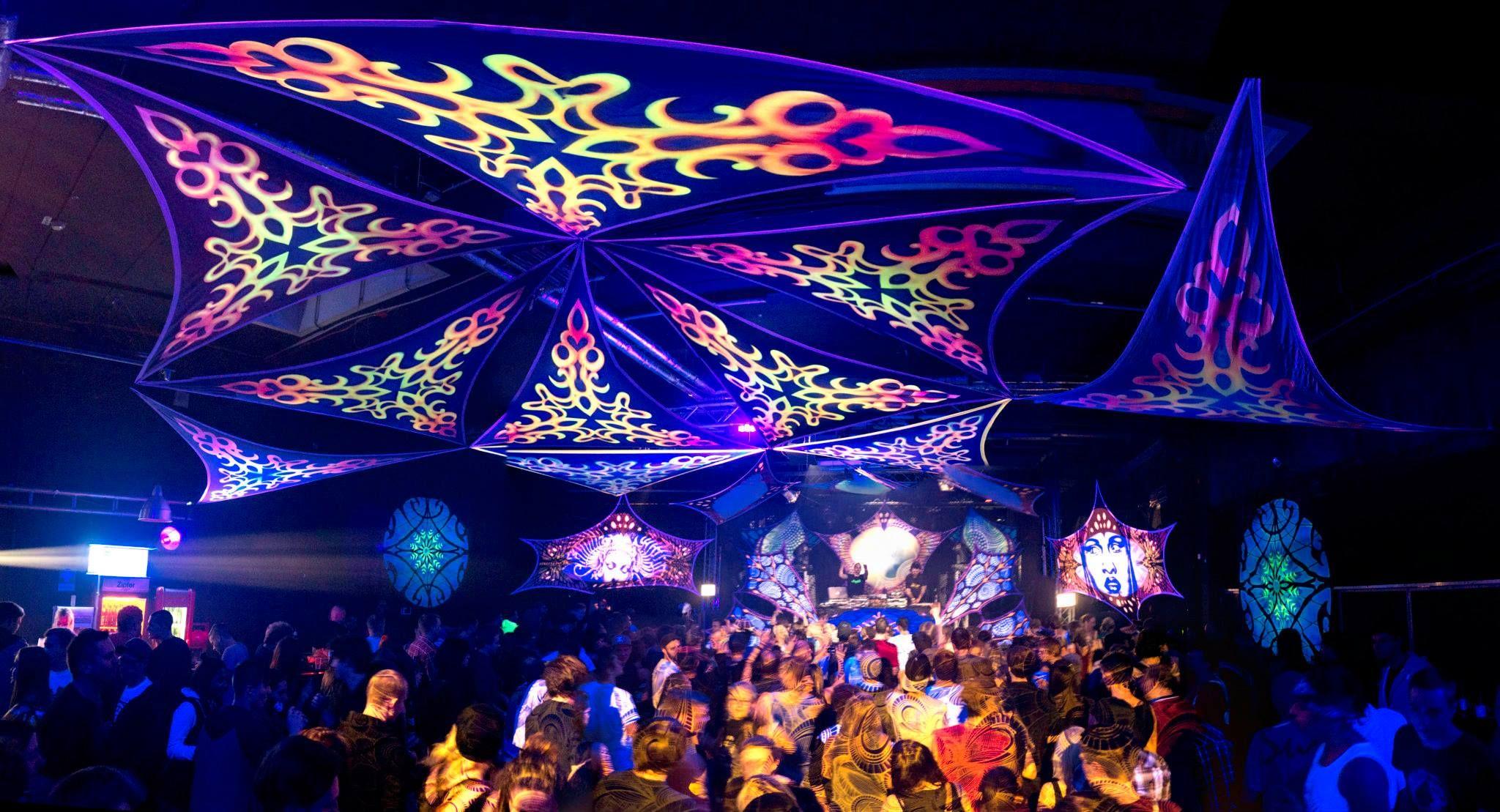 Uv Decoration Blacklight Decor Lycra Decoration Event Decor Decor Festival