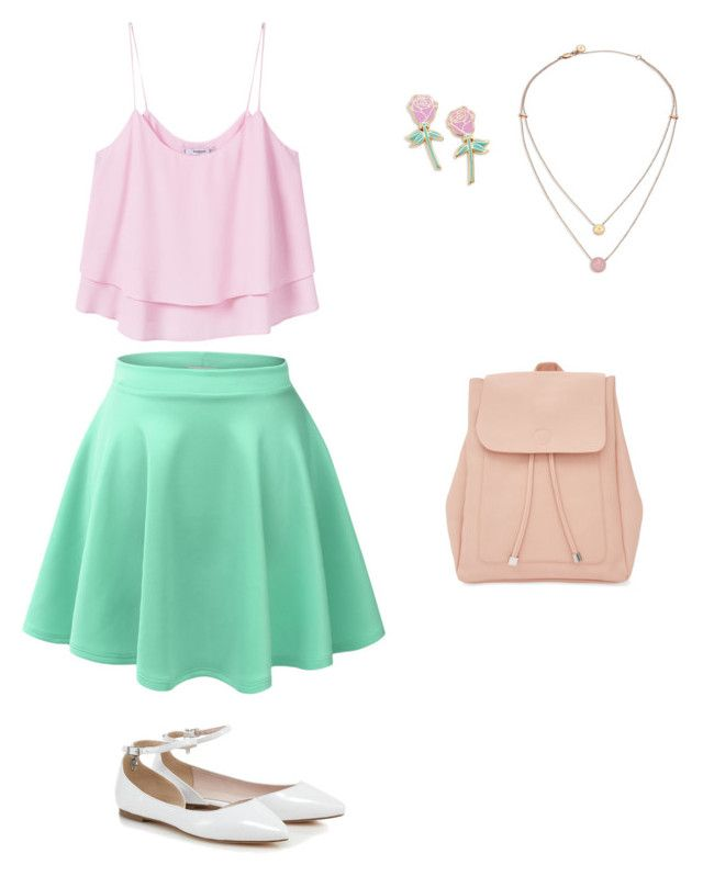 """""""Pastel me"""" by ashleyjo53 on Polyvore featuring LE3NO, MANGO, New Look, Big Bud Press and Michael Kors"""