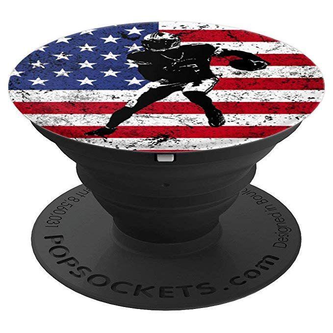 Amazon.com: Football USA Flag Pop Socket Player Christmas ...