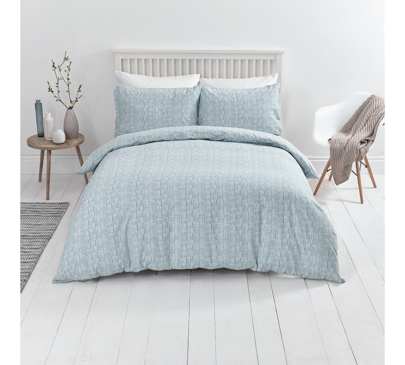 buy sainsbury 39 s home blue nordic sky duvet cover set. Black Bedroom Furniture Sets. Home Design Ideas