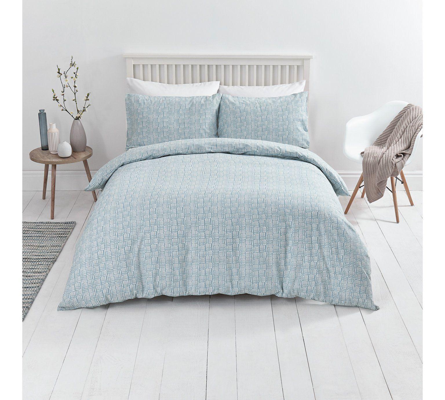 Buy Sainsbury 39 S Home Blue Nordic Sky Duvet Cover Set