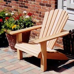 Traditional Adirondack Chair Plan   The Fan Back Classic Plans For Sale